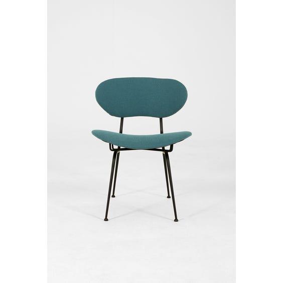 Teal wool lounge chair image