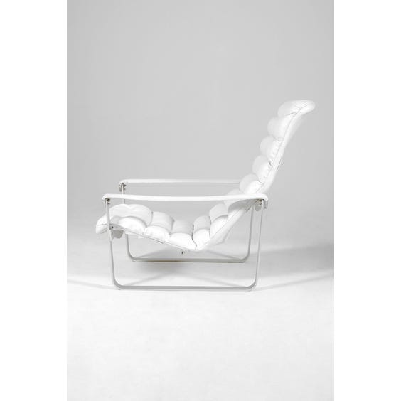 White leather lounge chair image