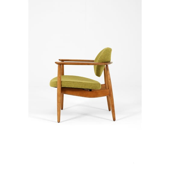 Scandi lime gold armchair image