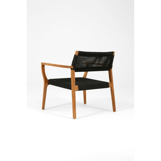Black woven rope seat armchair image