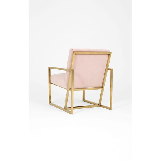 1970s pink buttoned velvet armchair image