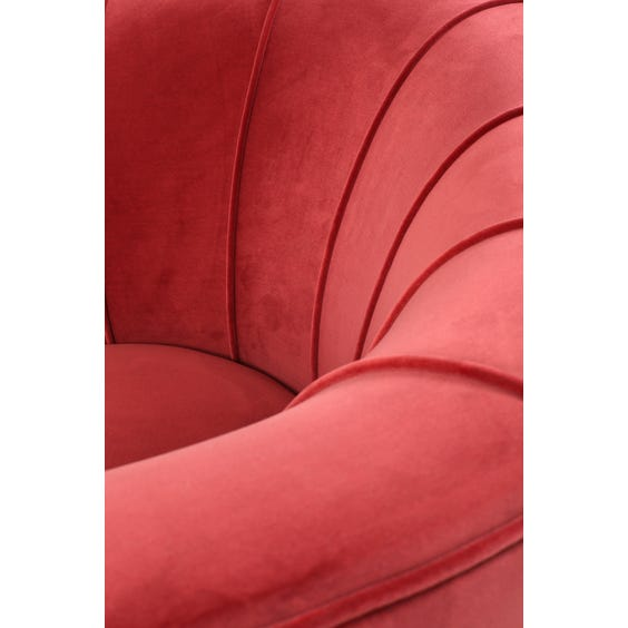 Midcentury raspberry back tub armchair image