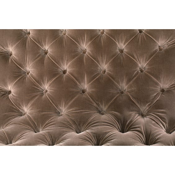 Velvet buttoned wide lounge chair image