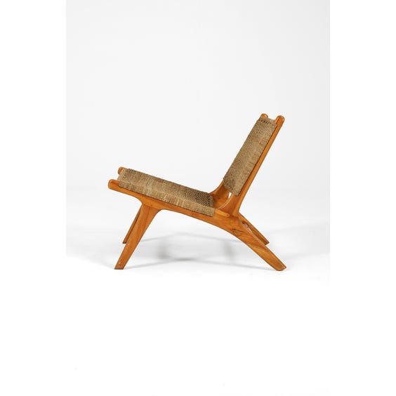 Woven natural rope Gong chair image