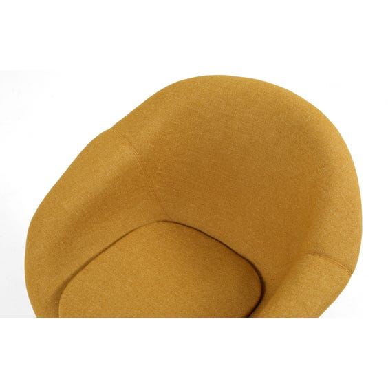 Lime gold wool tub chair image