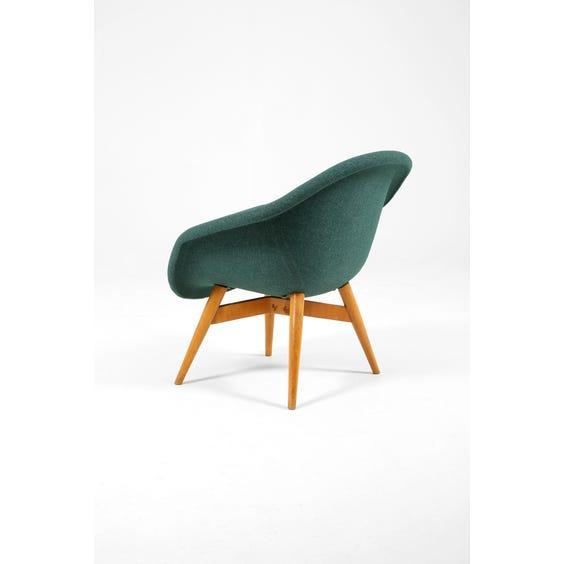 Teal flecked wool tub chair image