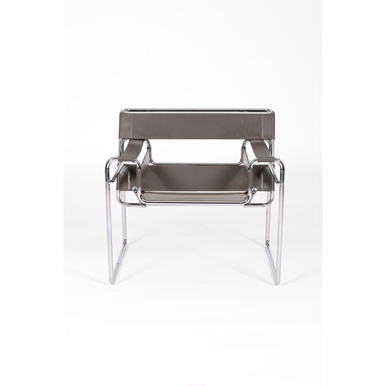Donkey grey leather 'Wassily' chair image
