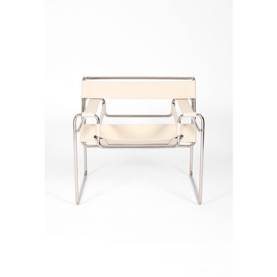 Cream leather 'Wassily' armchair image