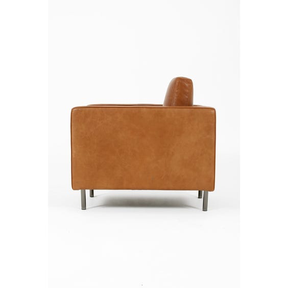 Tan leather armchair image