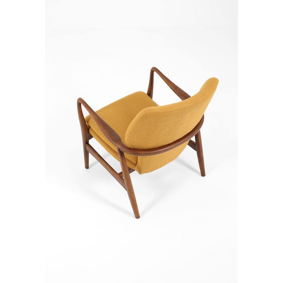 Midcentury walnut frame armchair image