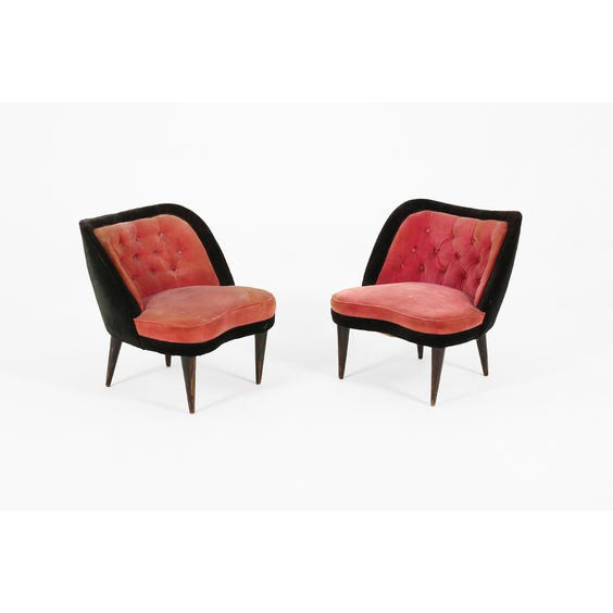 Raspberry and black cocktail chair image