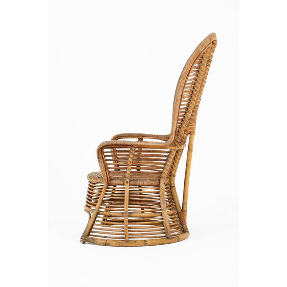 Bamboo and woven rattan armchair image