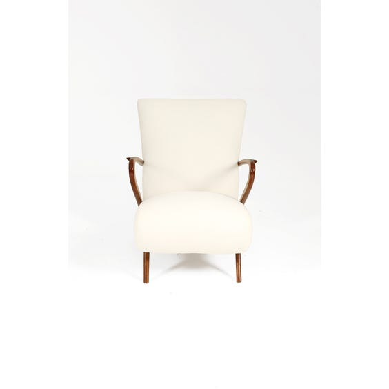 Italian off white wool armchair image