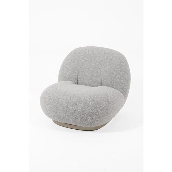 Dove grey bouclé lounge chair image