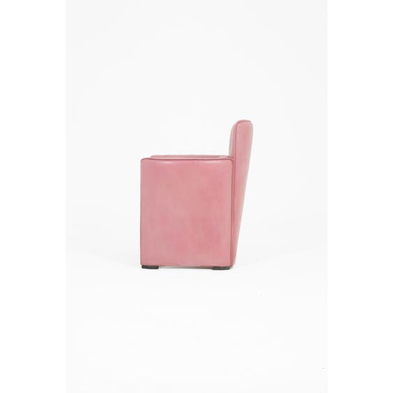 Postmodern pink leather armchair image