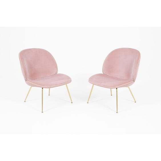 Powder pink velvet Beetle chair image