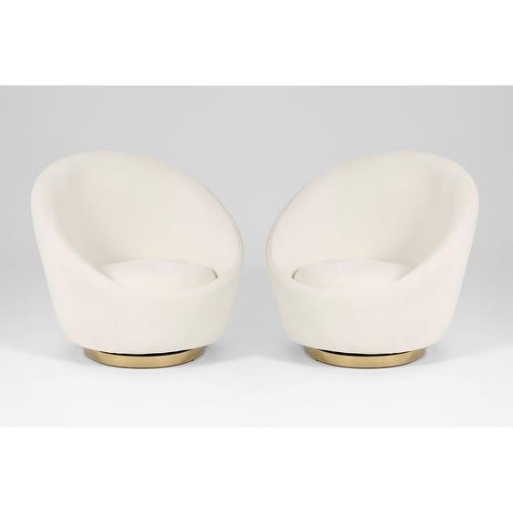 Off white swivel tub armchair image