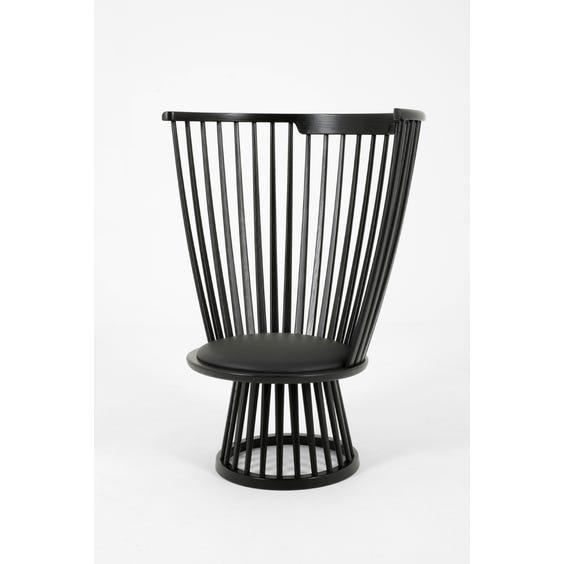 Ebonised spindle back Fan chair image