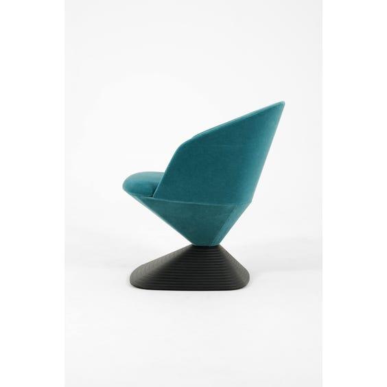 Turquoise velour Pivot chair image