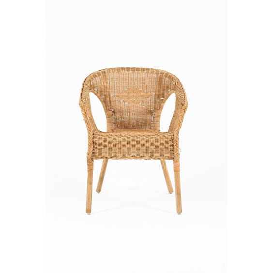 Natural woven wicker chair image