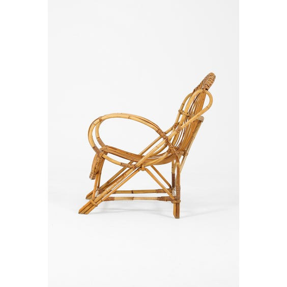 Midcentury French rattan armchair image