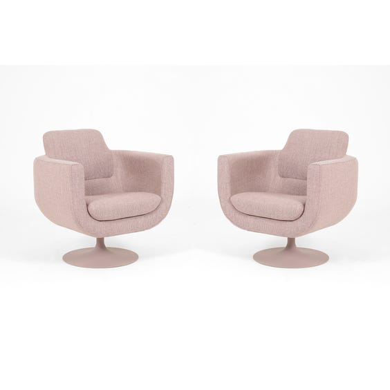 Dusky lilac swivel tub chair image