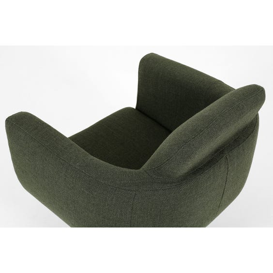Forest green swivel tub chair image