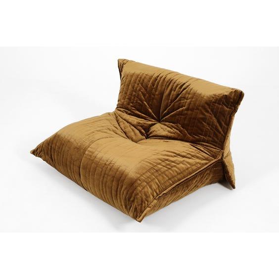 Bronze velvet low lounge chair image