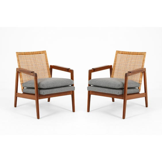 Dutch rattan back lounge chair image