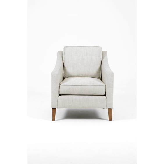 Off white and grey woven armchair image