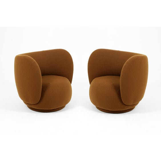 Postmodern cocoa brown tub chair image