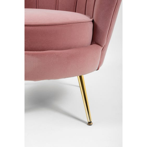 Dusky pink scallop chair image