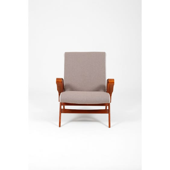 Midcentury muted mauve armchair image