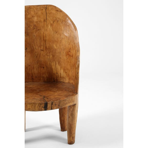 Naga wood barrel back chair  image