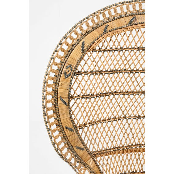 Midcentury woven rattan peacock chair image