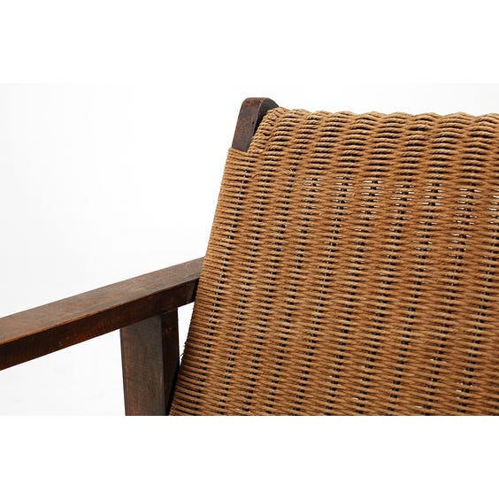 Midcentury French papercord armchair image