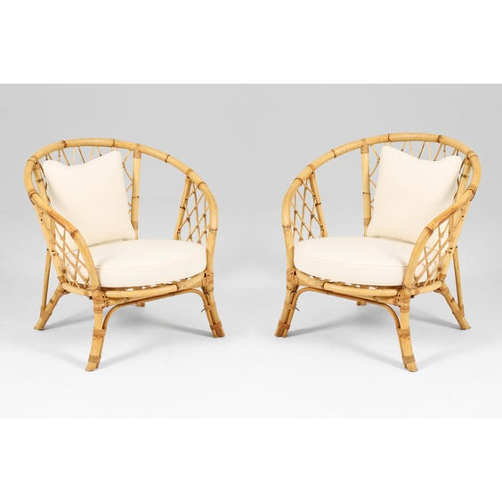 French rattan armchair  image