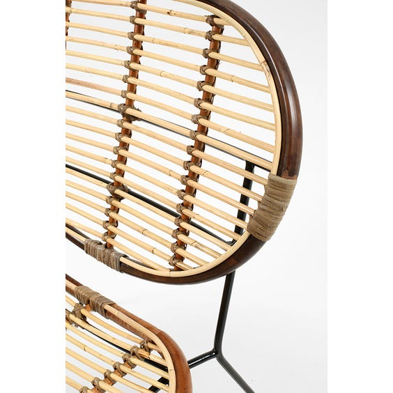 Two tone rattan lounge chair image