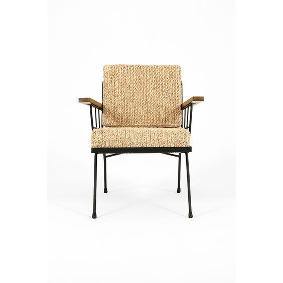Modern raffia armchair image