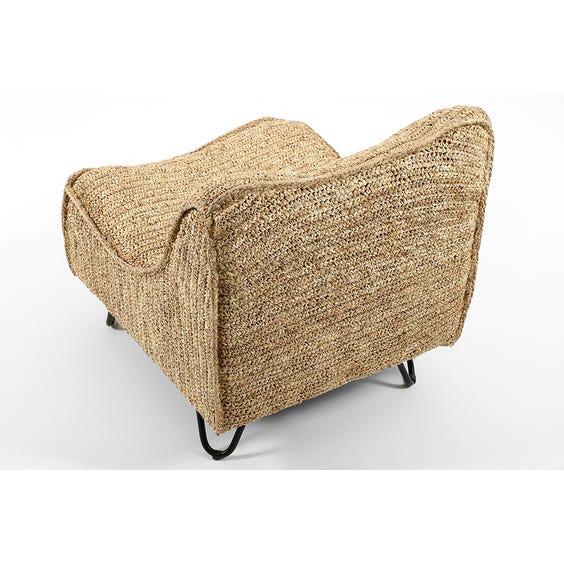 Freeform raffia lounge chair image