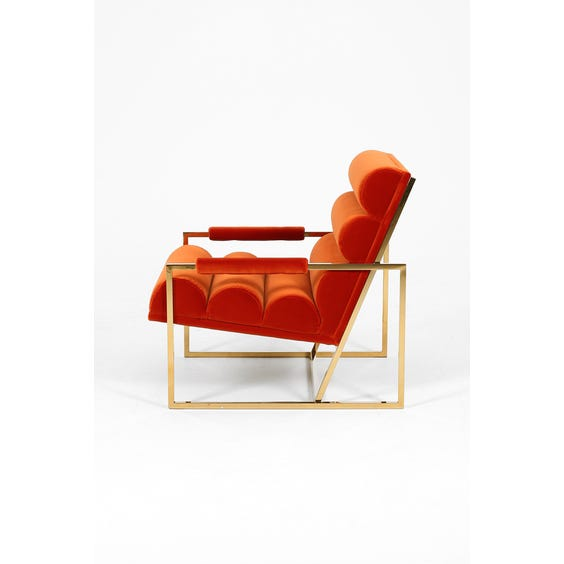1970s orange velvet armchair  image