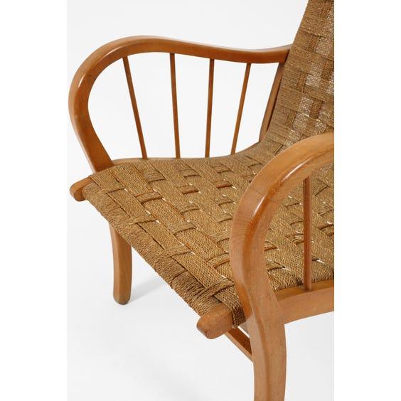 Midcentury Dutch beech armchair image