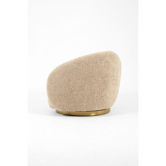 Oatmeal shearling tub armchair image