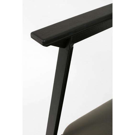 Modern grey leather armchair image