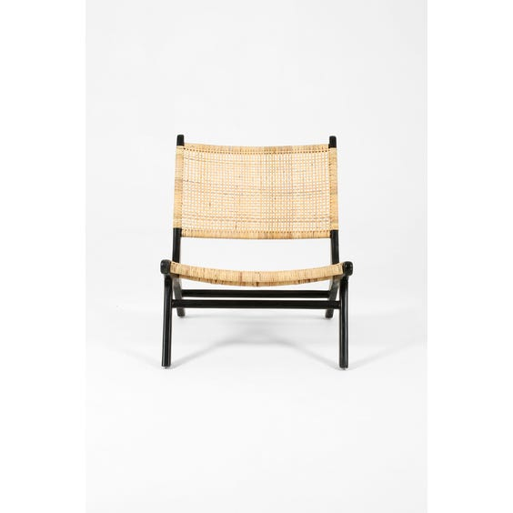 Woven rattan low lounge chair image