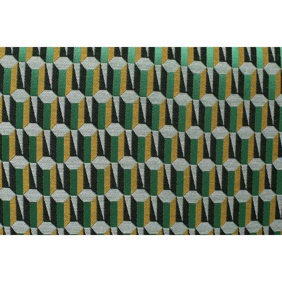 Midcentury green silk lounge chair image