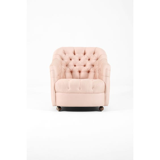 Midcentury satin pink armchairs image
