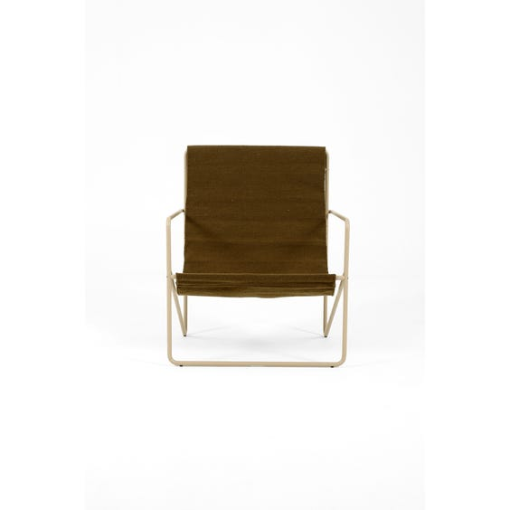 Muted olive low slung garden chair  image