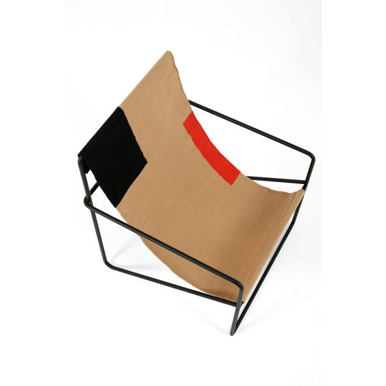 Biscuit low slung garden chair image