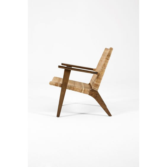 Danish woven rattan armchair  image